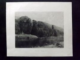 Charles Murray after Seymour 1891 Etching. Cliefden Woods. Clivedon